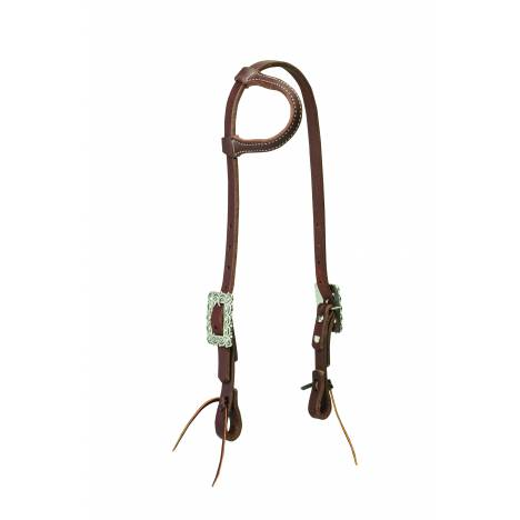 Weaver Working Cowboy Sliding Ear Headstall - Scalloped