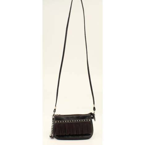 Nocona Hadley Fringe And Nailhead Crossbody Bag