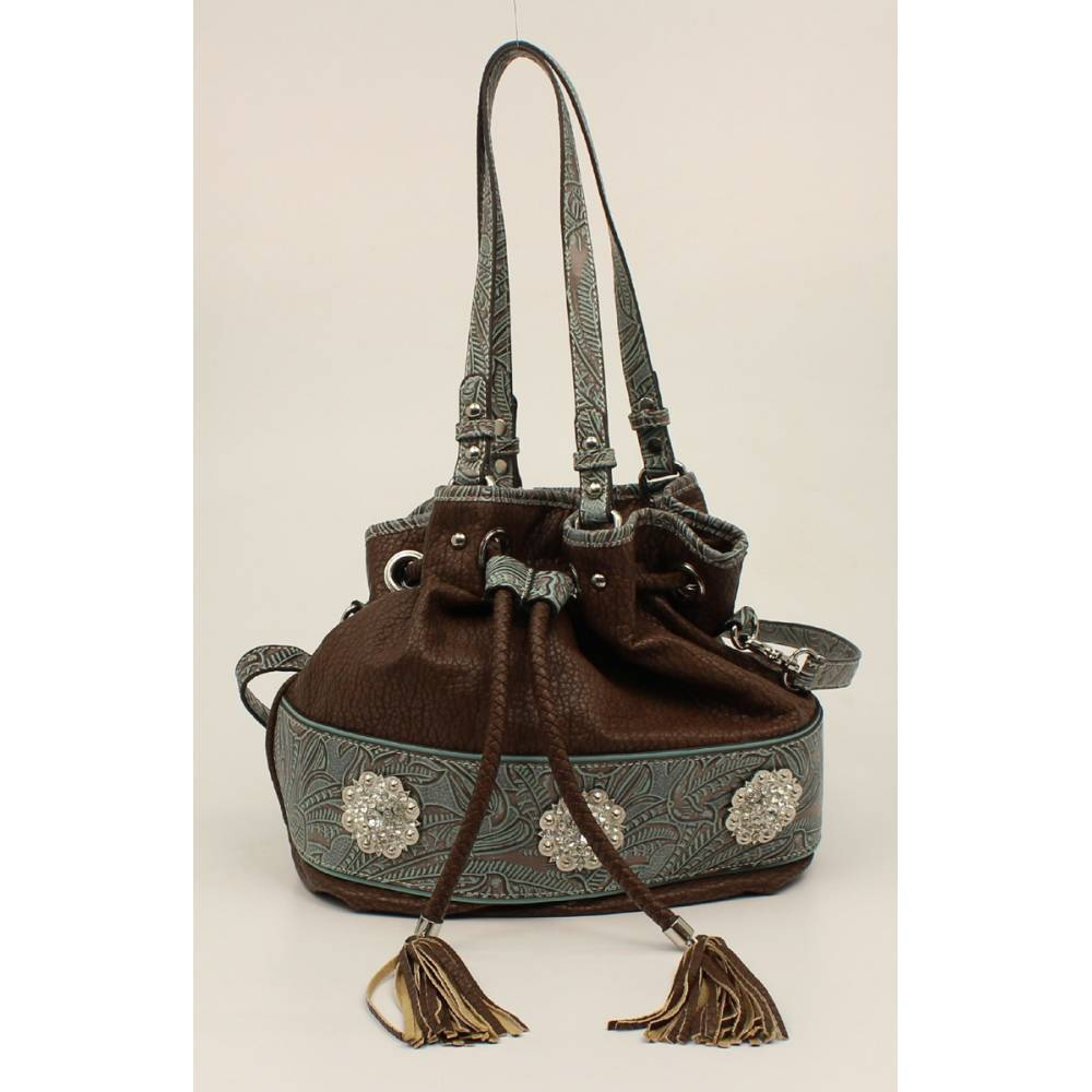 Nocona Myra Embossed Fringe And Concho Bucket Bag Horseloverz See more ideas about bags, fringe bags, bag pattern. horseloverz