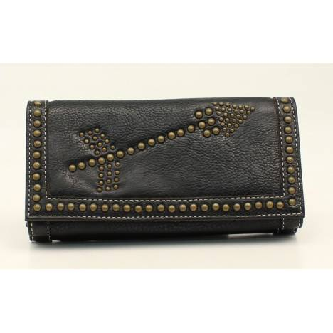 Nocona Claire Nailhead Arrow Flip Over Zip Wallet
