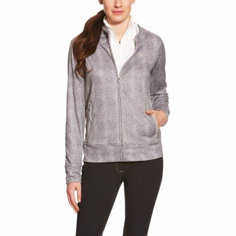 Ariat Ladies Conquest Zip Hoodie - Herringbone Print