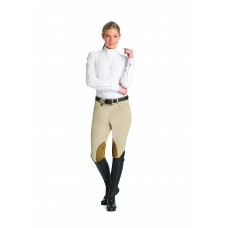 Ovation Ladies TS Hunter Side Zip Knee Patch Breech