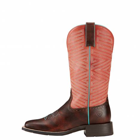 Ariat Ladies Outsider Yukon Boots - Brown/Fiery Red