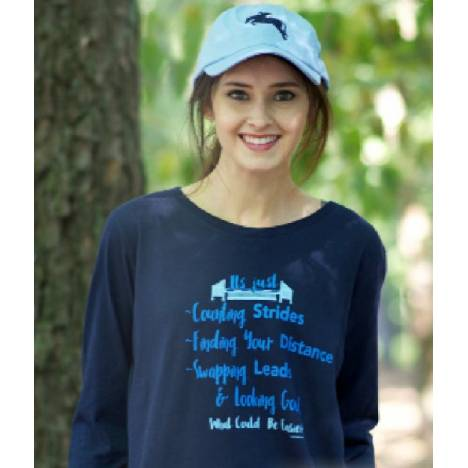 Stirrups Ladies Counting Strides Long Sleeve Jersey Tee