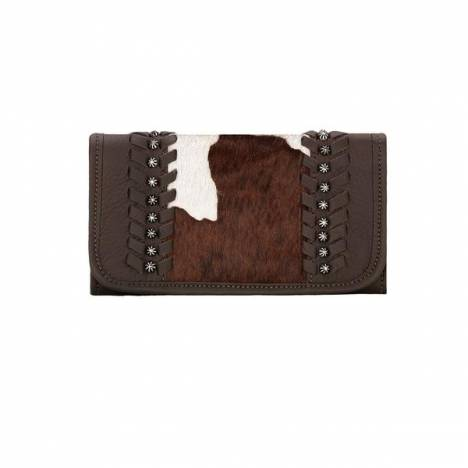 American West Cow Town Ladies Tri-Fold Wallet