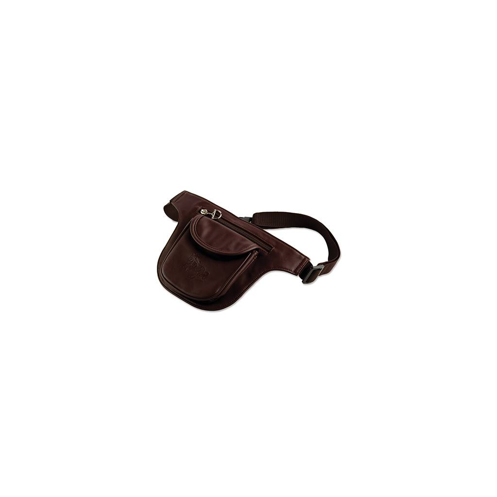 Two Pocket Fanny Pack - Debossed Gallop Horse