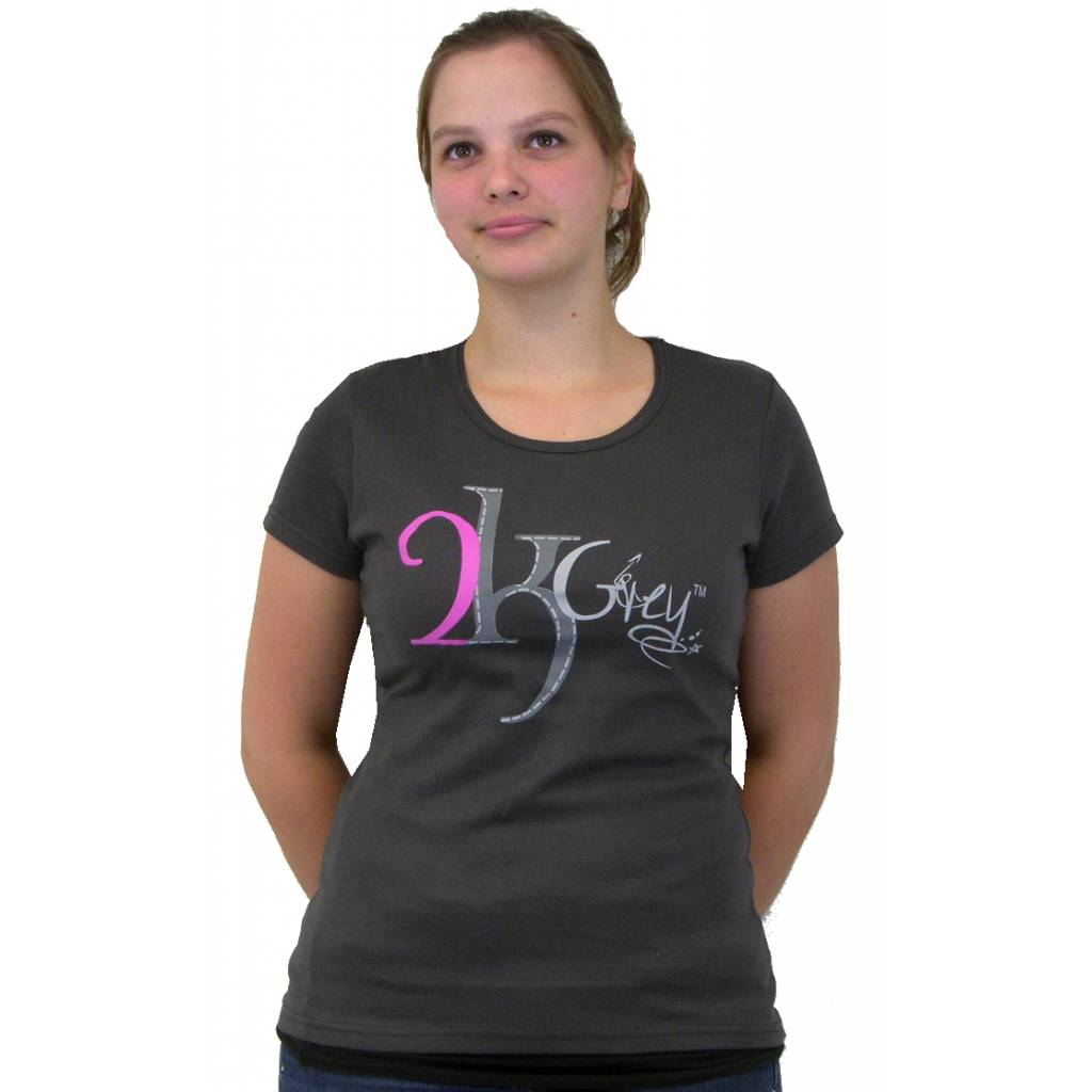 2kGrey Ladies Ride with Passion Tee Shirt