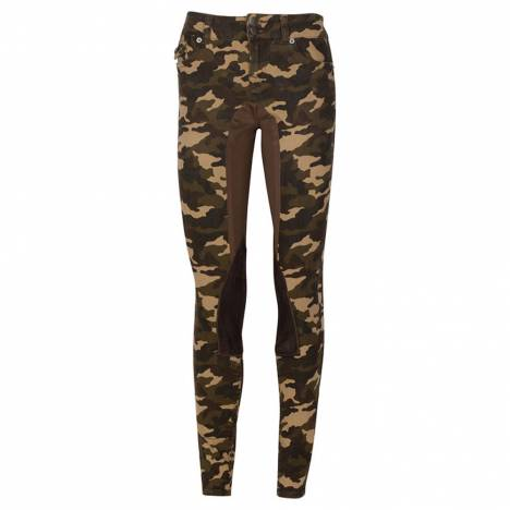 2kGrey Ladies Camo Print Stretch Riding Jean by Kiya Tomlin