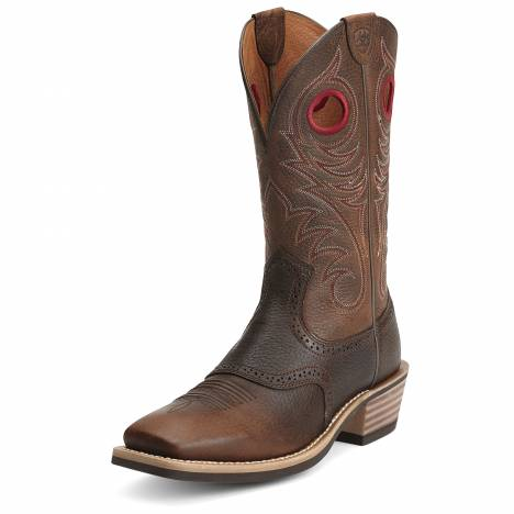 Ariat Mens Heritage Roughstock Boots - Western Brown Rowdy