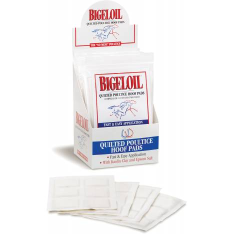 Bigeloil Quilted Poultice Hoof Pads - 4 Pack