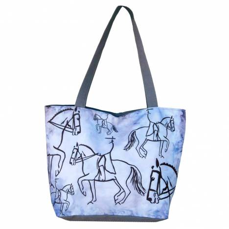 WOW Canvas Tote Bag Dressage Rider