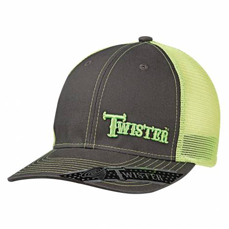 Twister Mens Mesh Snapback Off Set Logo Ball Cap