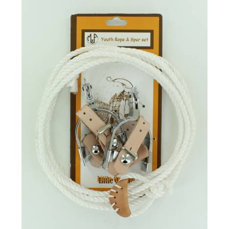 Little Outlaw Kids Rope And Spurs Set