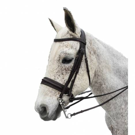 Exselle Elite Plain Raised Padded Bridle with Extra Brow
