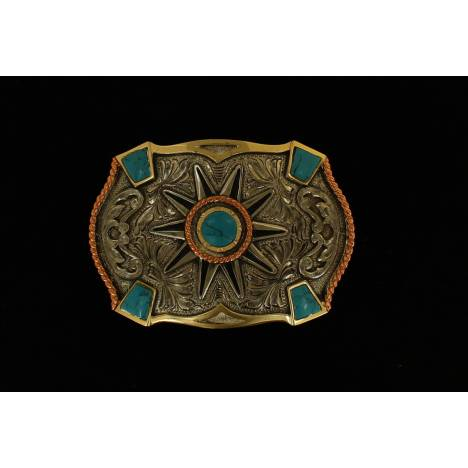 Crumrine Stone Fancy Boxed Buckle