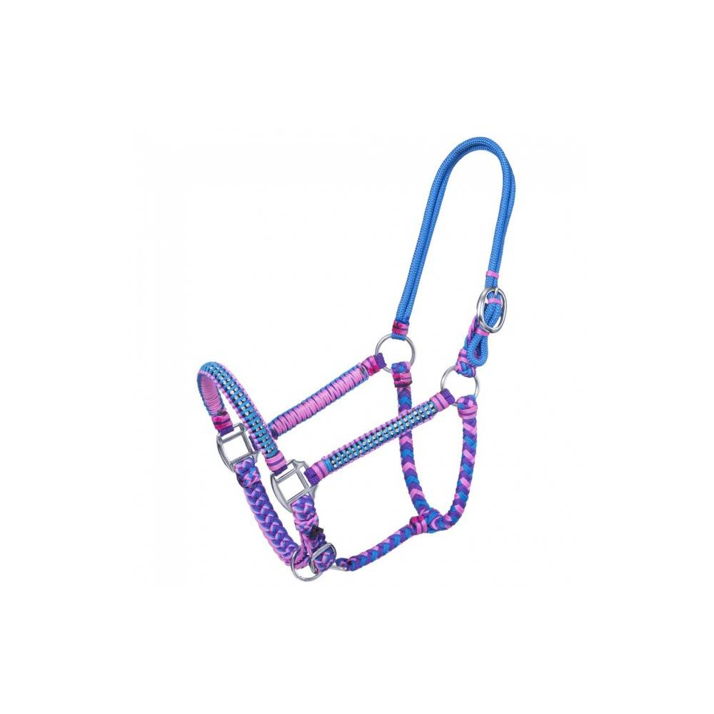 Tough-1 Mini Rope Halter with Lead Small Turquoise
