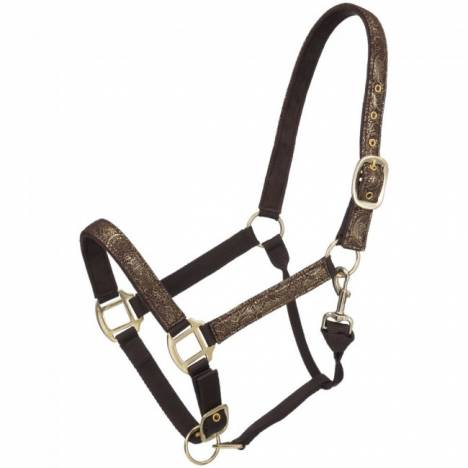 Tough 1 Nylon Adjustable Floral Overlay Halter