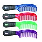 Partrade Rubber Grip Mane And Tail Comb - Purple - 8