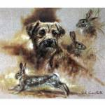 Sally Mitchell Fine Art Dog Prints - Daydreaming