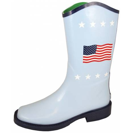 Smoky Mountain Ladies Flag Boots - White