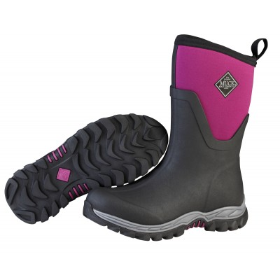 10cbe1d6f050 ... Muck Boots Ladies Arctic Sport II Mid - Black Phlox Purple · Double tap  to zoom
