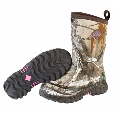Muck Boots Ladies Arctic Hunter Mid - Bark Realtree Xtra Pink