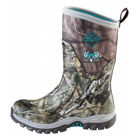 Muck Boots Ladies Girls with Guns Arctic Hunter Mid - Mossy Oak Country