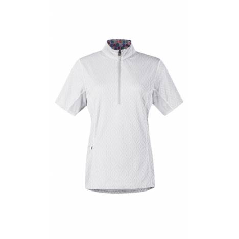 Kerrits Hybrid II Riding Shirt - Crossrails - White Crossrails