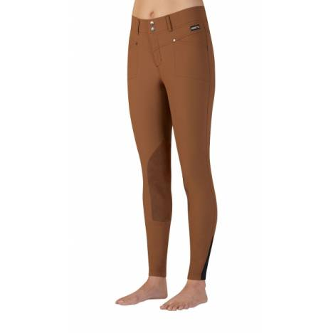 Kerrits Ladies Cross-Over Kneepatch Breech - Dark Acorn