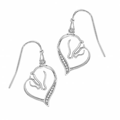 Mare And Foal Clear Stone Earrings