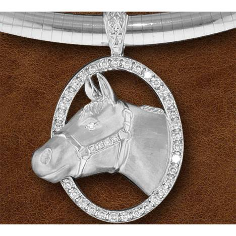 Kelly Herd Silver Halter Horse Necklace