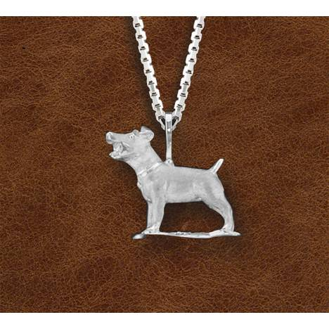 Kelly Herd Silver Jack Russell Necklace