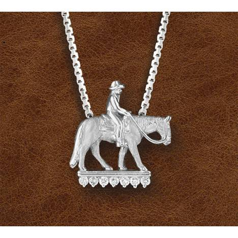Kelly Herd Silver Western Pleasure Horse And Rider