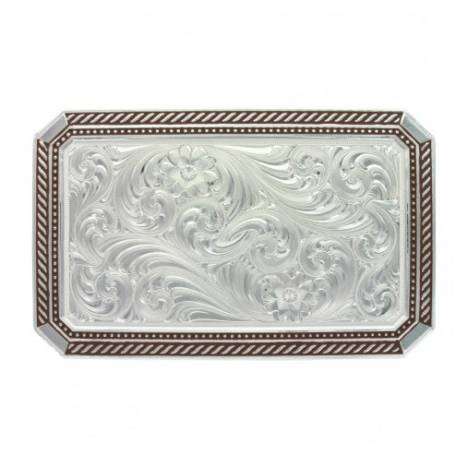 Montana Silversmiths Braided Edge Rectangle Pinpoint Buckle