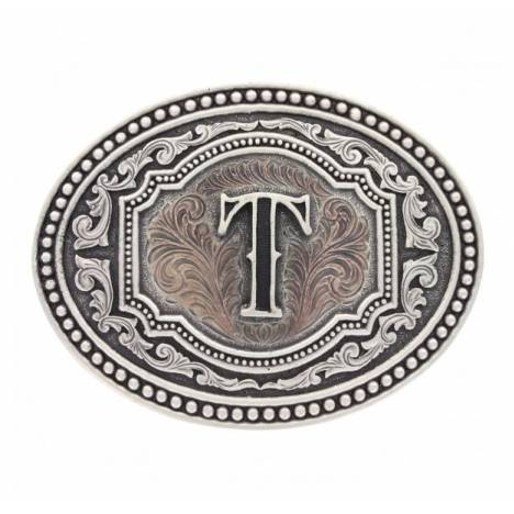 Montana Silversmiths Two Tone Cameo Initial Buckle