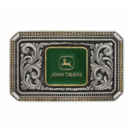 Montana Silversmiths Classic John Deere Engraved Pinpoint Cameo Attitude Buckle