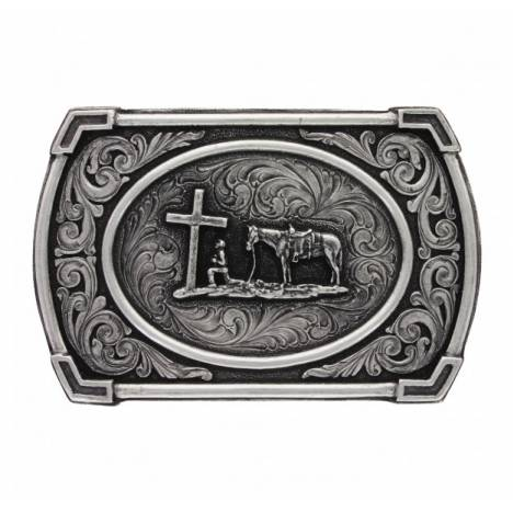 Montana Silversmiths Classic Antique Ace/Hole Christian Cowboy Attitude Buckle