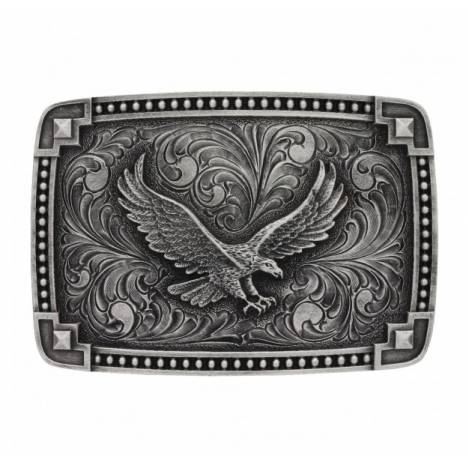 Montana Silversmiths Bead Edge Antique Tied At Corners Eagle Attitude Buckle