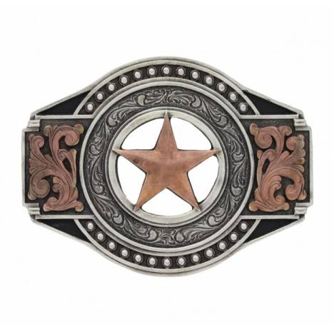 Montana Silversmiths Two Tone Open Texas Ranger Star Attitude Buckle