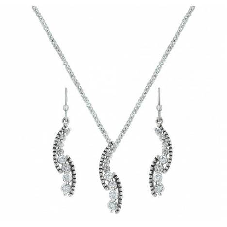 Montana Silversmiths Sparkle Rope And Cubic Zirconia Cascade Pathway Jewelry Set