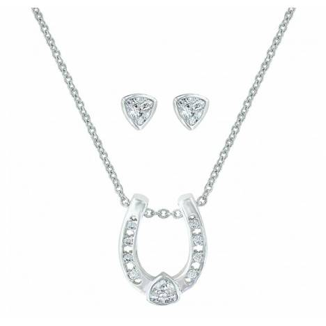 Montana Silversmiths Lucky Trillion Treasure Horseshoe Jewelry Set