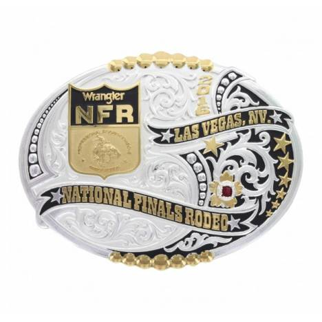 Montana Silversmiths 2016 Wrangler NFR Finals Stars And Beads Buckle