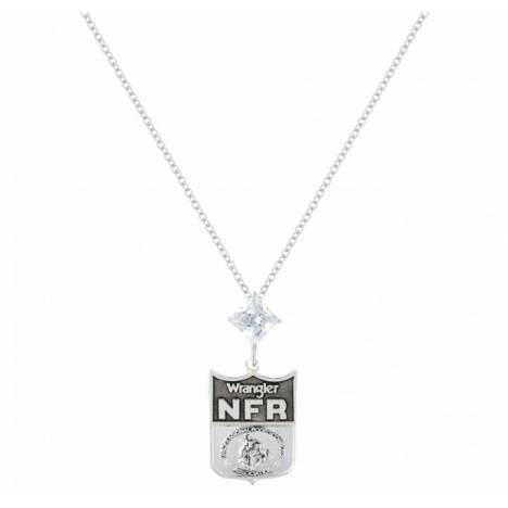 Montana Silversmiths Wrangler NFR Shield Cubic Zirconia Star Necklace