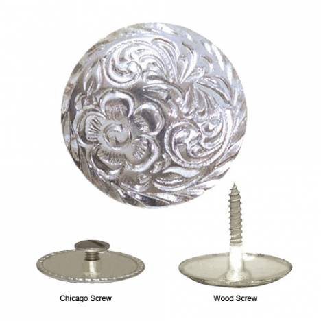 Action Wood Screw Silver Concho