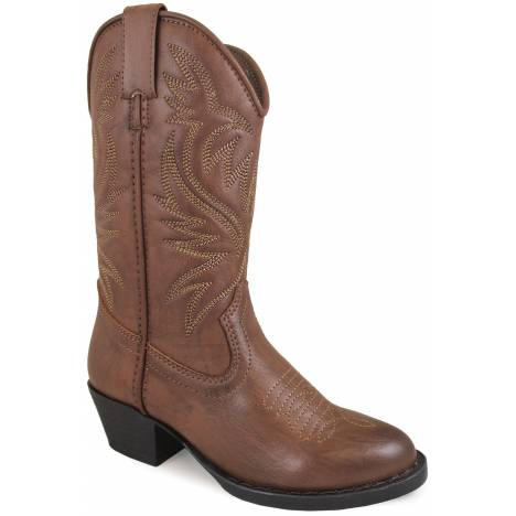 Smoky Mountain Childrens Trenton Western Boots - Brown