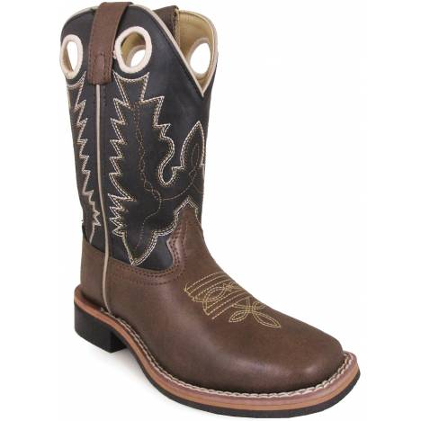 Smoky Mountain Youth Blaze Square Toe Boots - Brown/Black