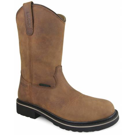 Smoky Mountain Mens Scottsdale Waterproof Safety Toe Wellington Boots - Brown