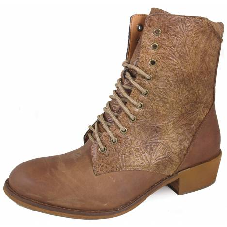 """Smoky Mountain Ladies Lacer 7"""" R Toe Synthetic Boots - Brown"""