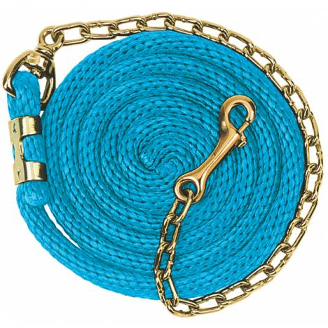 Weaver Poly Lead Rope with Brass Plated Swivel Chain