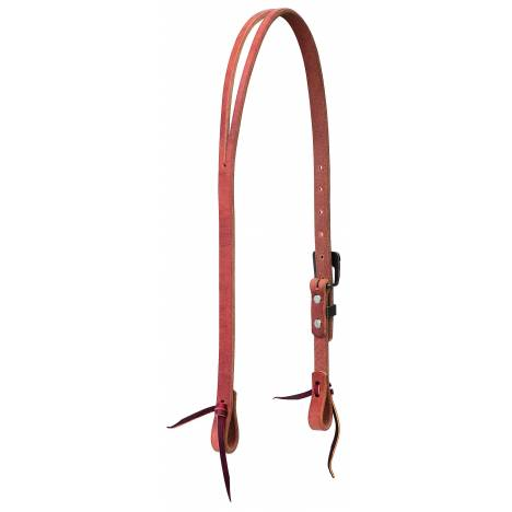 Weaver Protack Split Ear Headstall With Brown Hardware